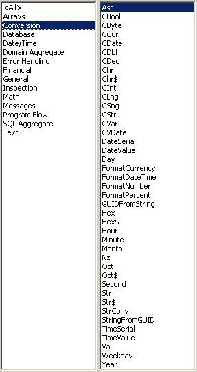 Access VBA kursus - indbyggede VBA funktioner, conversion - fjernundervisning