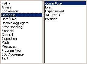 Access VBA kursus - indbyggede VBA funktioner, database- fjernundervisning