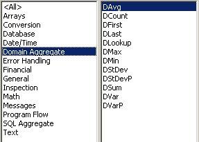 Access VBA kursus - indbyggede VBA funktioner, domain aggreate- fjernundervisning