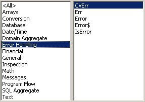 Access VBA kursus - indbyggede VBA funktioner, errorhandling - fjernundervisning