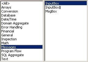Access VBA kursus - indbyggede VBA funktioner, messages- fjernundervisning