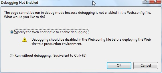 Debug asp.net appliaktion